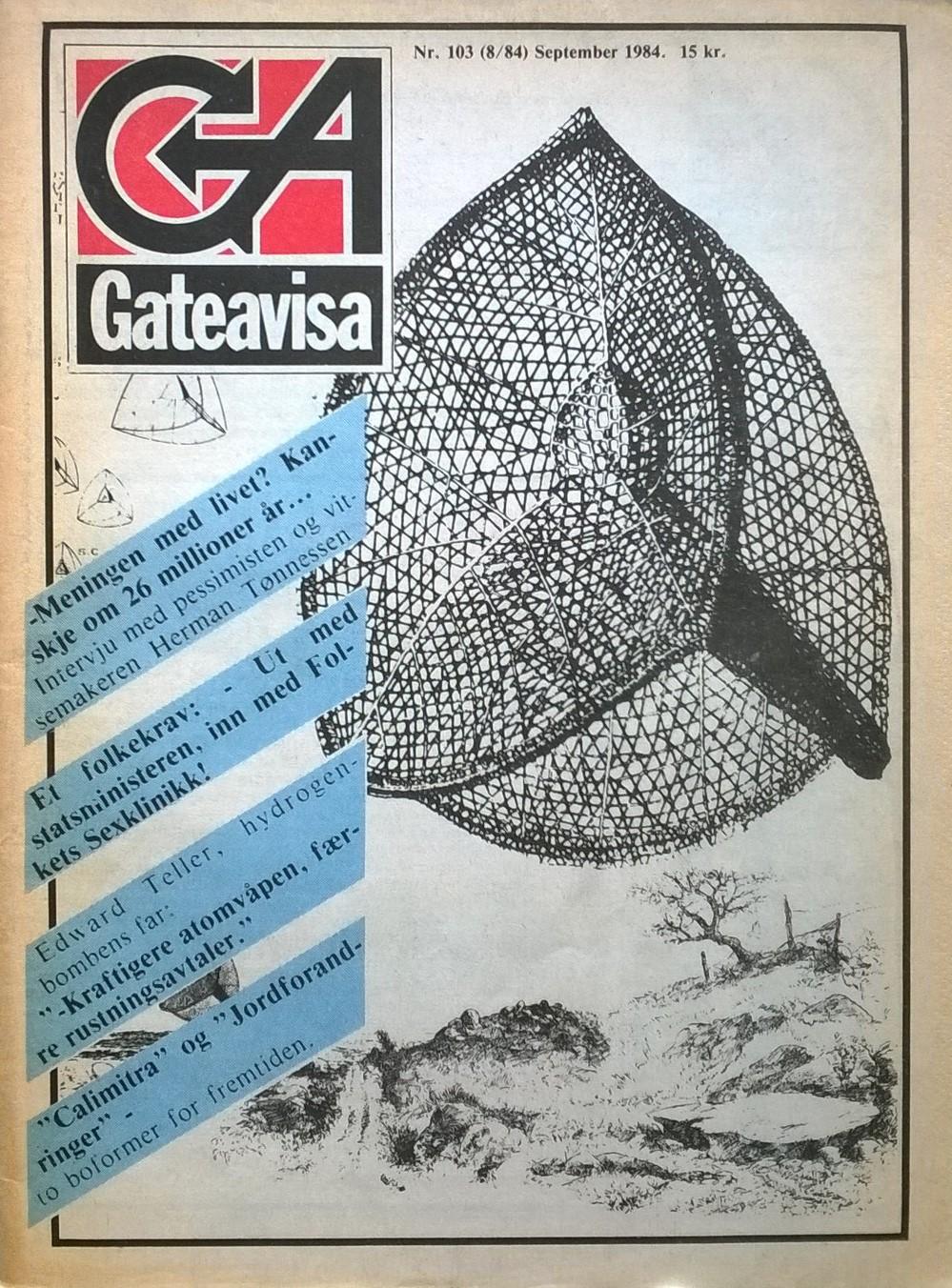 Engh, Audun, Geir T.H. Eriksen, Jon Erland Madsen, Eli Seglen, Inger Østenstad (red.) Gateavisa, nr. 8 1984
