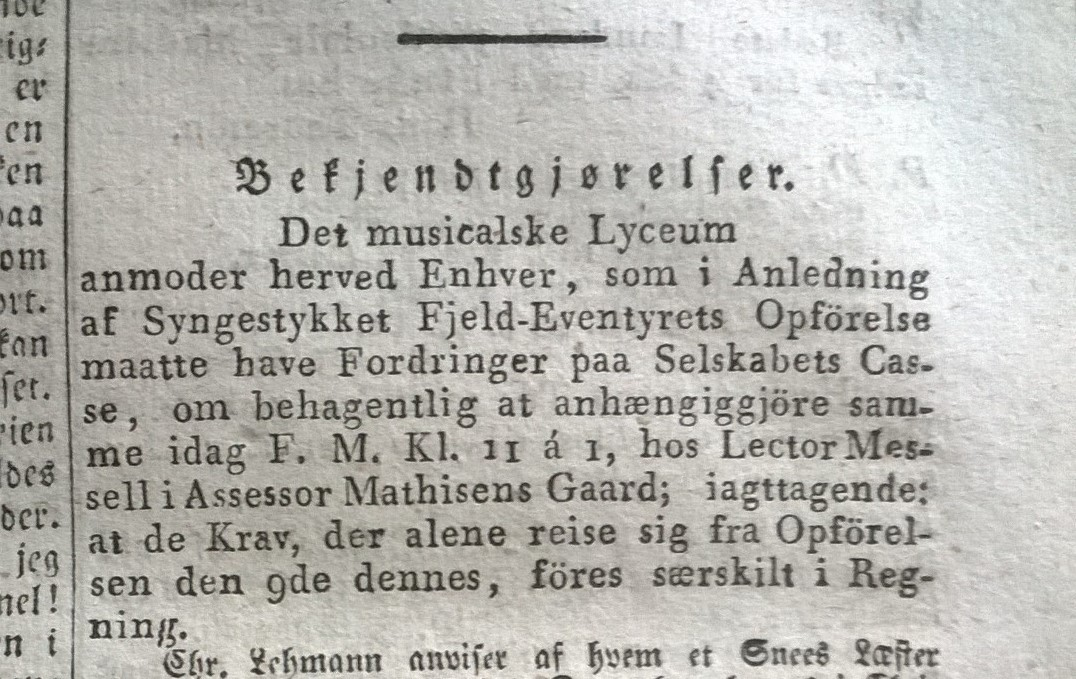 Hviid, Rasmus (red.) Morgenbladet, 1. halvår 1825